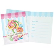 8 Invitations Candy Shoppe