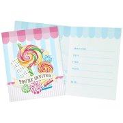 8 Invitations Candy Shoppe