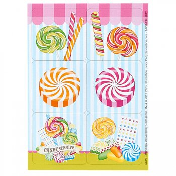 4 Planches de Stickers Candy Shoppe