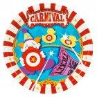 8 Assiettes Carnaval Circus