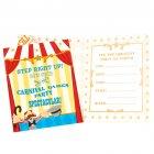 8 Invitations Carnaval Circus