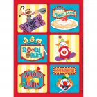 4 Planches de Stickers Carnaval Circus