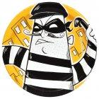 8 Petites Assiettes Policiers et Voleurs