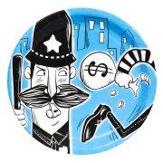 8 Assiettes Policiers et Voleurs