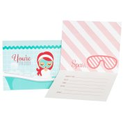 8 Invitations Little Spa Party