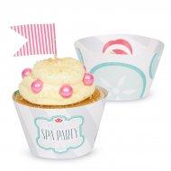 12 Wrappers à Cupcakes réversibles Little Spa Party