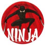 8 Assiettes Ninja Party