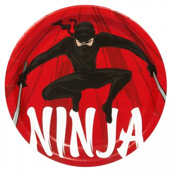 8 Assiettes Ninja Party