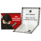 8 Invitations Ninja Party