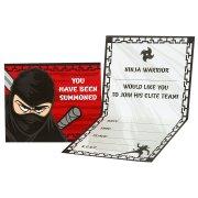 8 Invitations Ninja Party
