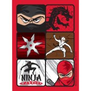 4 Planches de Stickers Ninja Party