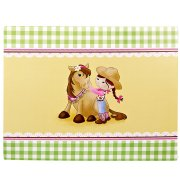 4 Sets de table ludiques Cowgirl Rosie