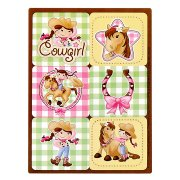 4 Planches de Stickers Cowgirl Rosie