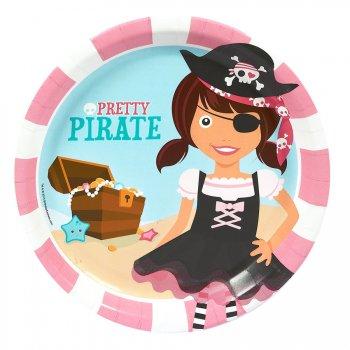 8 Assiettes Pretty Pirate
