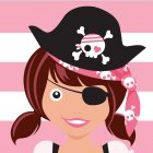 20 Serviettes Pretty Pirate