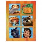 4 Planches de Stickers Mowgli et ses amis