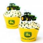 Kit 12 Wrappers et D�co Cupcakes John Deere
