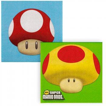 16 Serviettes Super Mario Bros