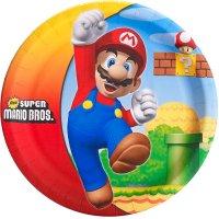 Contient : 1 x 8 Assiettes Super Mario Bros