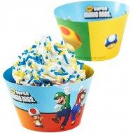 12 Wrappers à Cupcakes réversibles Super Mario Bros