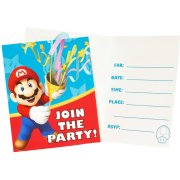 8 Invitations Super Mario & Luigi