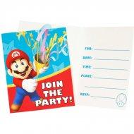 8 Invitations Super Mario & Luigi