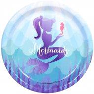 8 Assiettes Sirène Mermaids