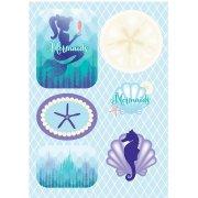 24 Stickers Sirène Mermaids