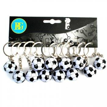 12 Porte-clés Ballon Foot Métal