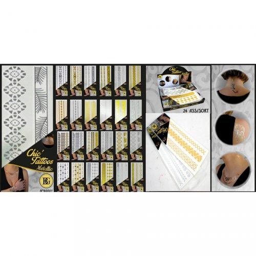 1 Set Tatouages Bijoux Or ou Argent