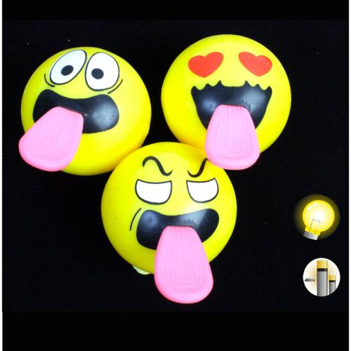 1 Balle Lumineuse Emoji Langue (5 cm)