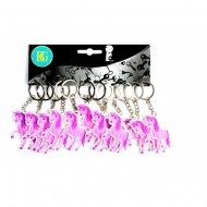 12 Porte-clés Licorne Rose