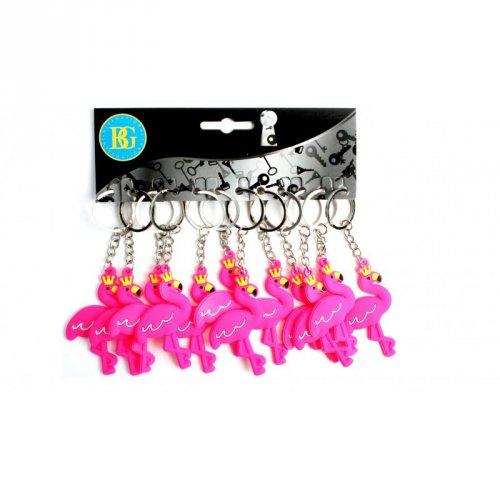 12 Porte-clés Flamant Rose