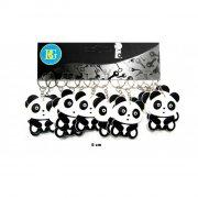 1 Porte-clé Panda 2D (4,5 cm) - Caoutchouc