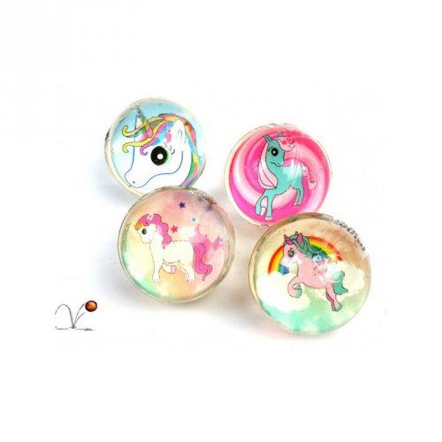 1 Mini Balle Rebondissante Licorne (2,5 cm)