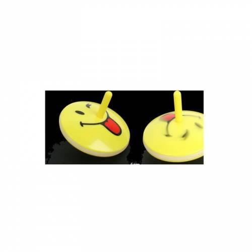 1 Toupie Lumineuse Smiley (6 cm)