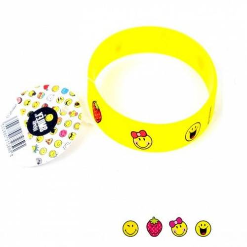 1 Bracelet Silicone Smiley