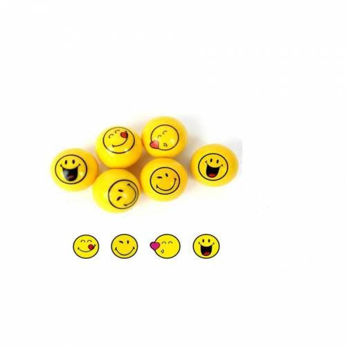 1 Balle Rebondissante Smiley (3,6 cm)