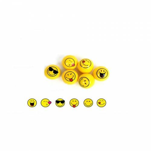 1 Balle Rebondissante Smiley (3 cm)