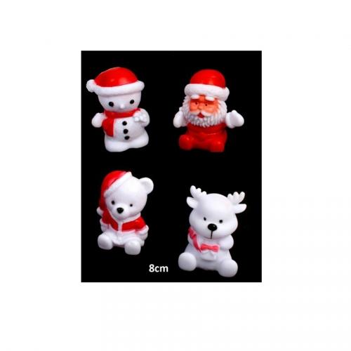 1 Figurine Lumineuse Noël (8cm) - Couleurs changeantes