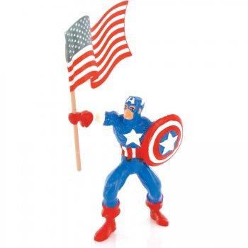 Figurine Captain América avec Drapeau