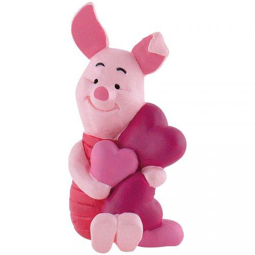 Figurine Porcinet Coeurs (Winnie l Ourson) - Plastique