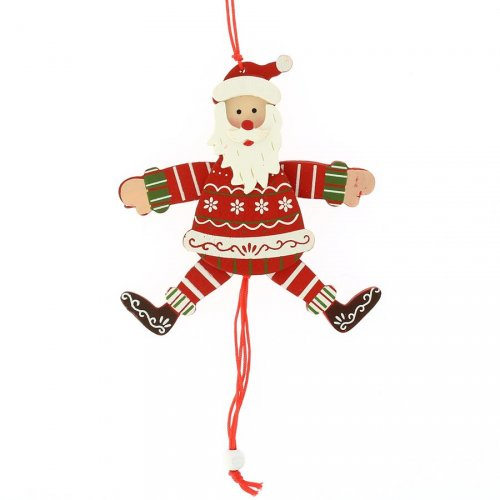 1 Pantin Père Noël (14 cm) - Bois