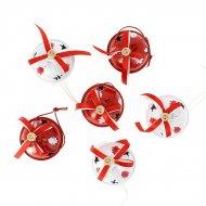 6 Petites Boules Grelots (4,5 cm) - Métal