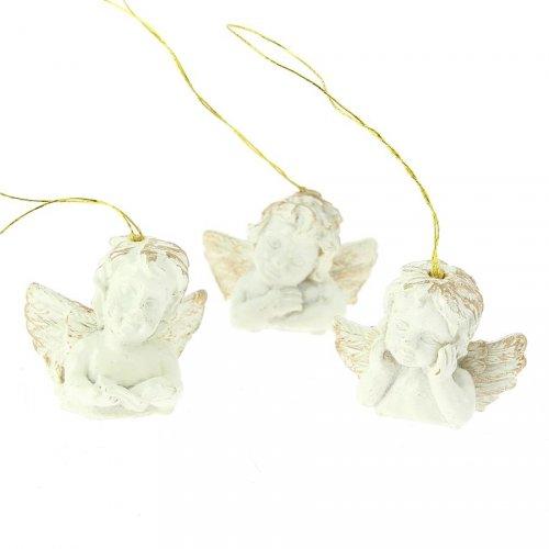 12 Petits Angelots (3 cm) - Résine