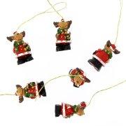 6 Mini Suspensions Renne de Noël (3,5 cm) - Résine