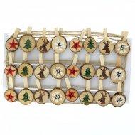 Guirlande Rondins de Noël pour Calendrier de l'Avent DIY - Bois