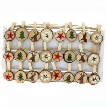 Guirlande Rondins de Noël pour Calendrier de l Avent DIY - Bois