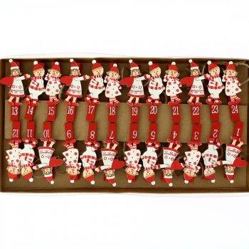 Guirlande Anges de Noël pour Calendrier de l Avent DIY - Bois