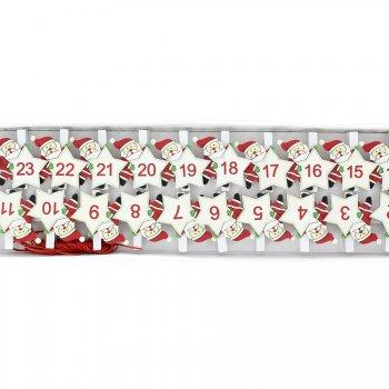 24 Pinces Père Noël pour Calendrier de l Avent DIY - Bois